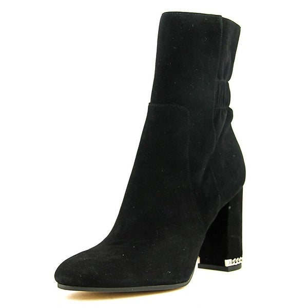 Michael Michael Kors Dolores Bootie Women Round Toe Suede Black Ankle Boot