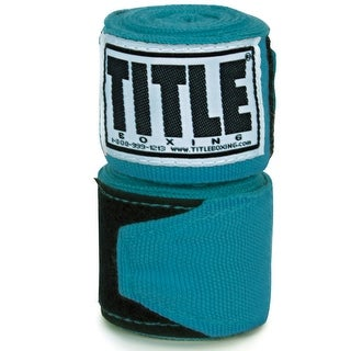"""Title Boxing 180"""" Semi Elastic Mexican Handwraps - Turquoise"""