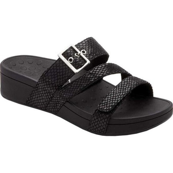 52f5a005ca77 Shop Vionic Women s Rio Slide Black Snake - Free Shipping Today ...