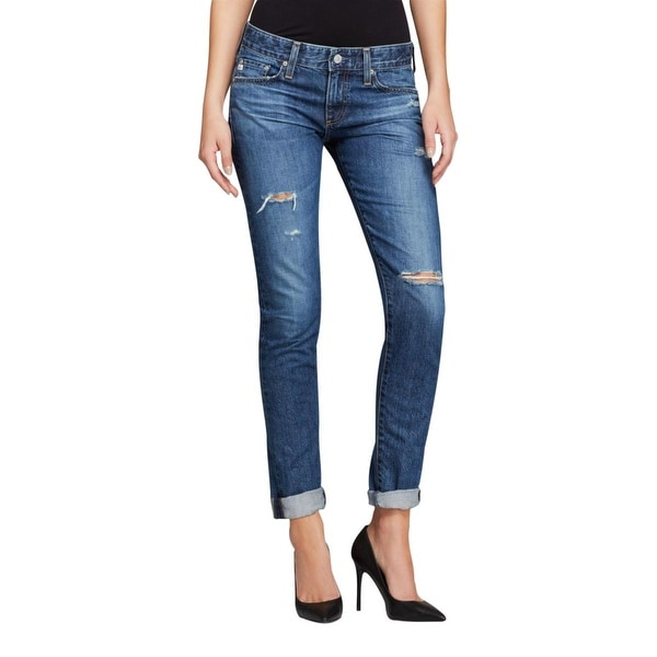Adriano Goldschmied Womens The Nikki Skinny Jeans Denim Distressed