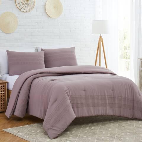Modern Threads Charleston 3 Piece Clipped Jacquard Comforter Set