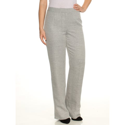 LE SUIT Womens Gray Straight leg Wear To Work Pants Size: 4