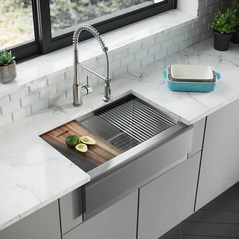 R1-3005-Evolv Single Bowl Stainless Steel Kitchen Sink Kit