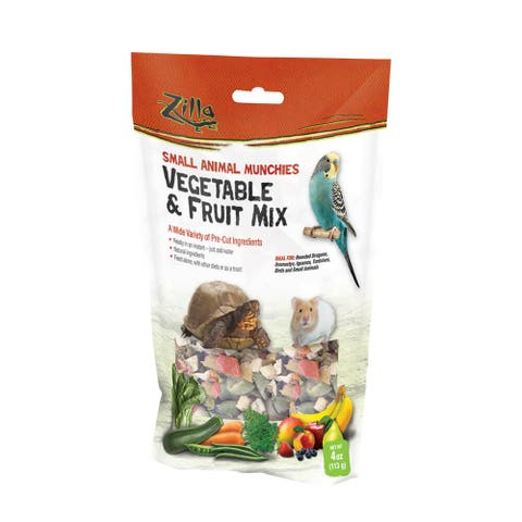 Zilla Reptile Munchies Vegetable and Fruit 4 ounces - 4 ounces