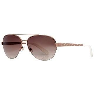 KATE SPADE Aviator KS Marion/S Women's AU2 B1 Rose Gold/White Brown Gradient Sunglasses - 57mm-15mm-135mm