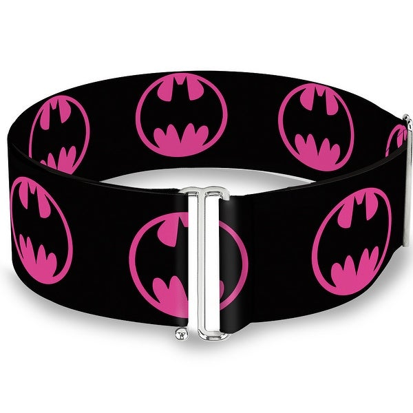 Bat Signal 4 Black Fuchsia One Size Cinch Waist Belt ONE SIZE