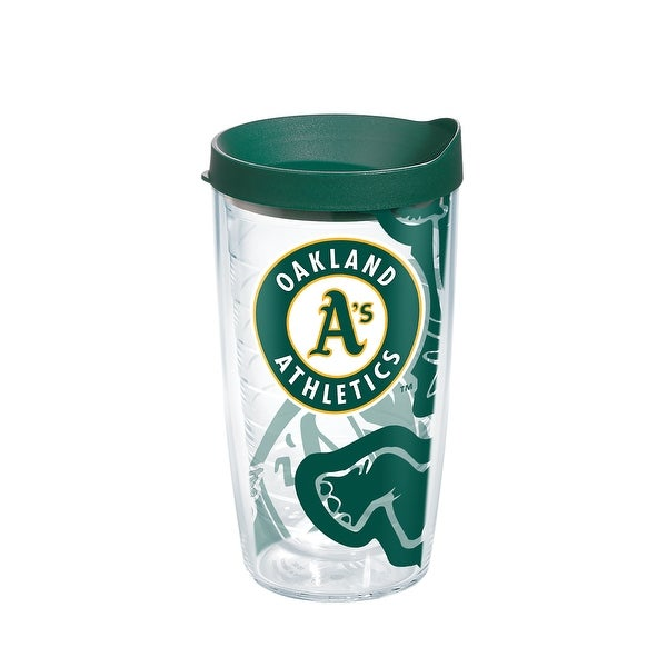 c471d846fd4 Shop MLB Oakland Athletics Genuine 16 oz Tumbler with lid - Free Shipping  On Orders Over $45 - Overstock - 23047246