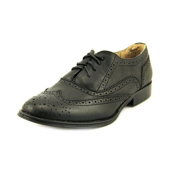 Wanted Babe Women Round Toe Synthetic Black Oxford