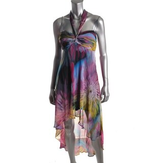 S.L. Fashions Womens Floral Print Sheer Sundress - 16