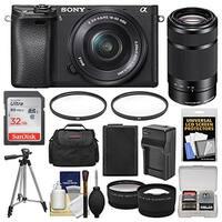 Sony Alpha A6300 4K Wi-Fi Digital Camera & 16-50mm with 55-210mm Lens Bundle