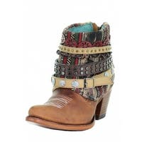 Corral Western Boots Womens Southwest Harness Ankle Brown