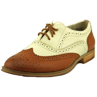 Wanted Babe Women Moc Toe Leather Oxford