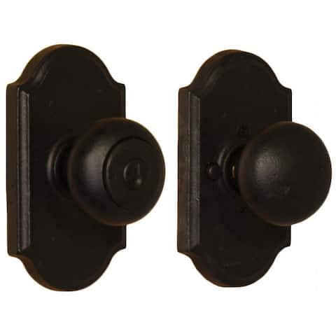 Weslock 7140F Wexford Keyed Entry Door Knob with Premiere Rose from