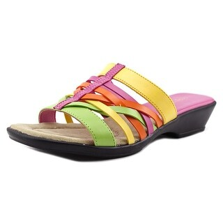 Easy Street Seaside WW Open Toe Synthetic Wedge Sandal