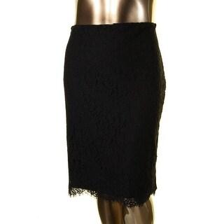 Lauren Ralph Lauren Womens Pencil Skirt Lace Scalloped