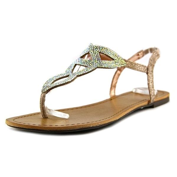 Material Girl Swirlz Women Nude Thong Sandal
