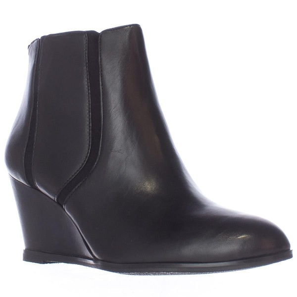 A35 Calistah Wedge Ankle Boots, Black