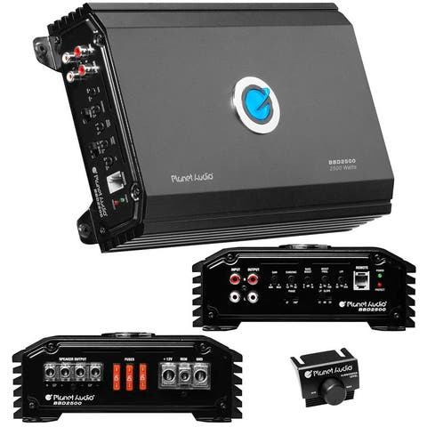 Planet audio bbd2500 planet audio big bang amplifier class d 2500 watts max 1 ohm stable with bass knob