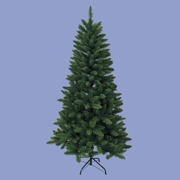 6' Traditional Artificial Green Pine Christmas Tree with Metal Stand - Unlit