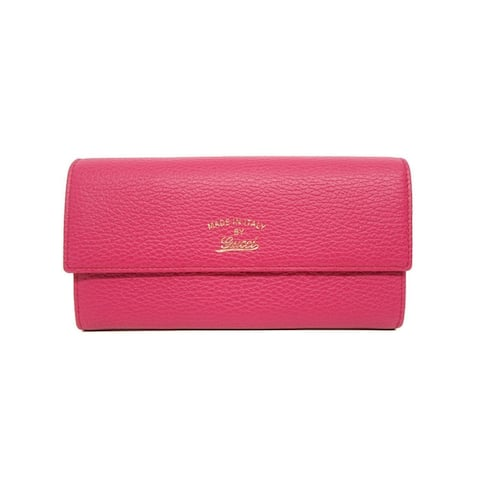 Gucci Women's Swing Blossom Pink Continental Flap Wallet Large 354496 - M