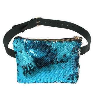CTM® Mermaid Color Changing Sequin Waist Pack Belt Bag