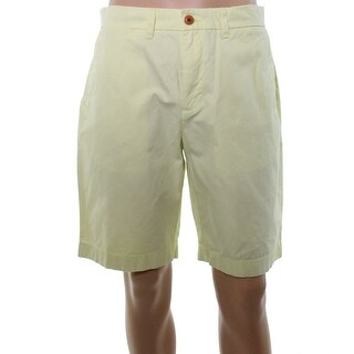 Tommy Hilfiger NEW Yellow Mens Size 32 Flat Front Classic Chinos Shorts