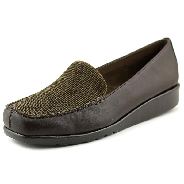 A2 By Aerosoles Gondola Women Square Toe Synthetic Brown Loafer