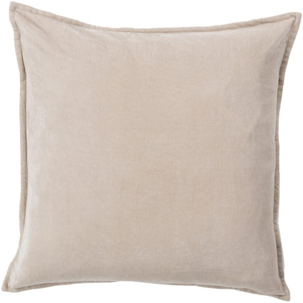 "22""Calma Semplicita Light Gray Decorative Square Throw Pillow - Down Filler"