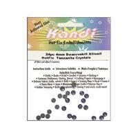 Kandi Swarovski Elements Crystal Pkg 4mm 24pc Tanzanite