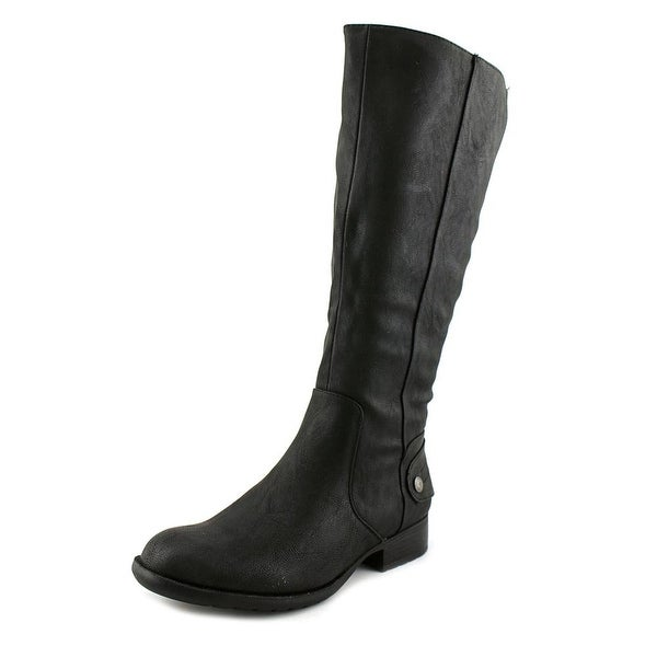 Life Stride Xandy Women W Round Toe Synthetic Black Knee High Boot