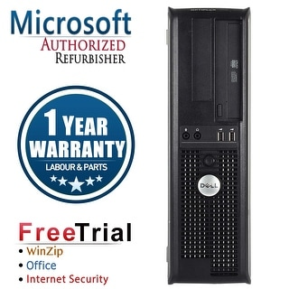 Refurbished Dell OptiPlex 780 Desktop Intel Core 2 Quad Q8200 2.33G 8G DDR2 320G DVDRW Win 10 Pro 1 Year Warranty - Silver