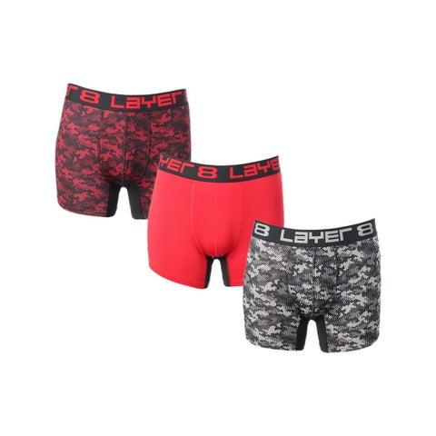 Layer 8 Mens Boxer Briefs Tagless Underwear