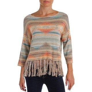 Denim & Supply Ralph Lauren Womens Pullover Sweater Striped 3/4 Sleeves