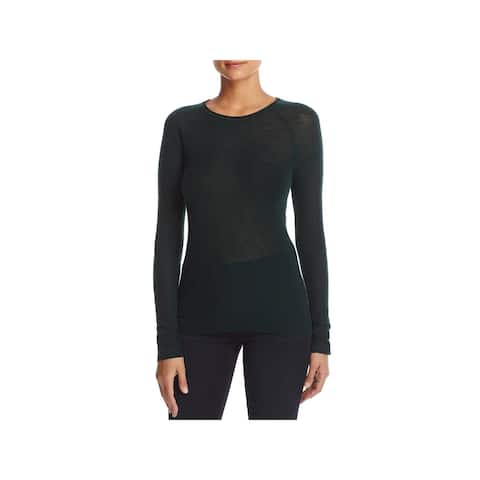 Elie Tahari Womens Carly Pullover Sweater Wool Blend Ribbed