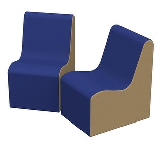 36 x 24 x 28 in. SoftZone Wave Youth Chair, Pack of 2 - Blue &