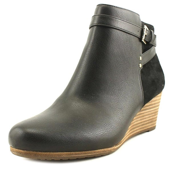 Dr. Scholl's Double Women Round Toe Synthetic Black Bootie