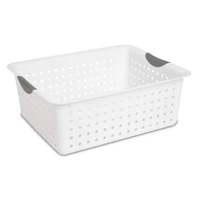 STERILITE Large Ultra Baskets, White - Case of 6