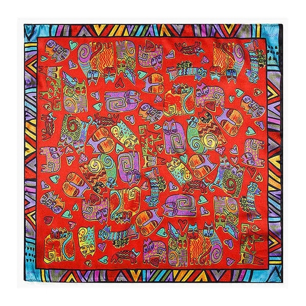 Linel Silk Touch Bohemian 24-inch Square Cat Scarf. Opens flyout.