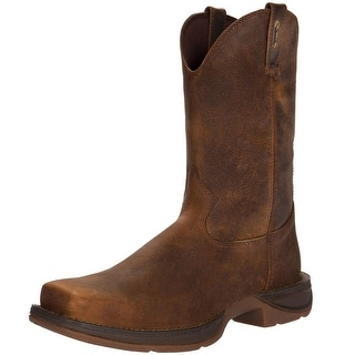 "Durango Western Boots Mens 11"" Rebel Pull On Square Toe Brown DB5444"