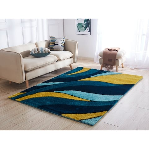 Aria Collection Soft Pile Hand Tufted Shag Area Rug