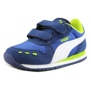 Puma Cabana Racer Mesh V Toddler Round Toe Synthetic Blue Sneakers
