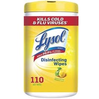 Lysol 1920078849 Lemon & Lime Blossom Scent Disinfecting Wipes, 110 Count