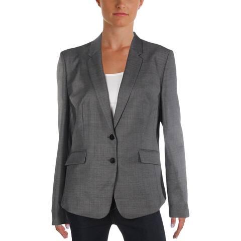 Hugo Boss Womens Jalinera Basic Suit Jacket Wool Double-Breasted
