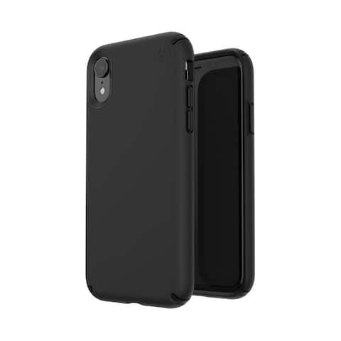 Speck Presidio Pro Designed for Impact Case for iPhone Xr - Black/Black - Pink