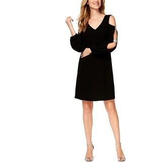 MSK Womens Party Dress Cold Shoulder Embellished