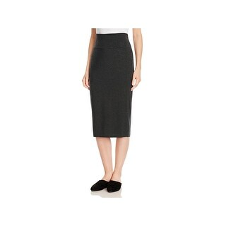 Eileen Fisher Womens Petites Pencil Skirt Knit Fold-Over - ps/pp