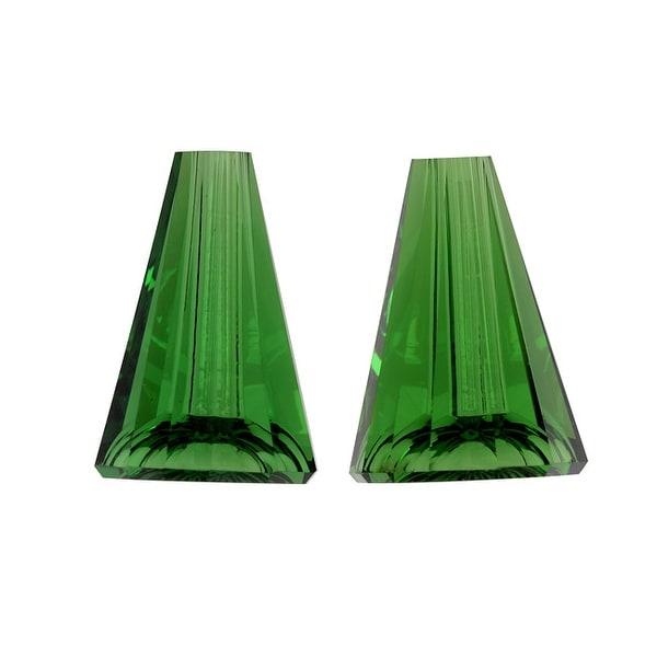 Swarovski Crystal, 5540 Artemis Cone Beads 12mm, 2 Pieces, Dark Moss Green