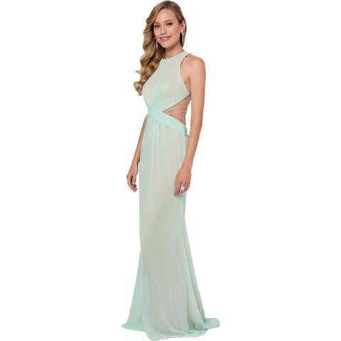 Terani Couture Embellished Illusion Formal Dress