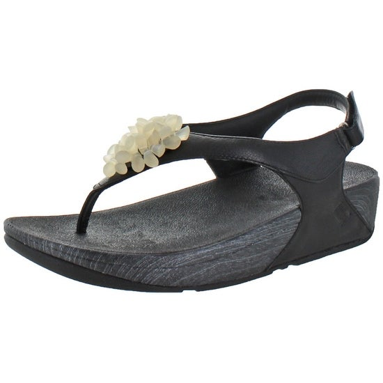 d96b86051 Shop FitFlop Women s Blossom II Casual Leather Flip Flop Sandals - Free  Shipping Today - Overstock - 17167892