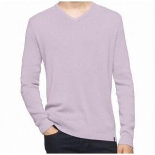 Calvin Klein NEW Purple Lavender Ice Mens Size XL V-Neck Sweater